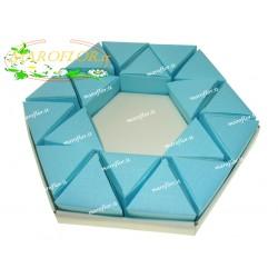 Torta Bomboniere Vuota Azzurra Celeste 18 Triangolini