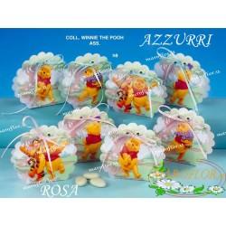 Bomboniere Winnie The Pooh scatolina portaconfetti Azzurre astucci Celeste 4 assortiti