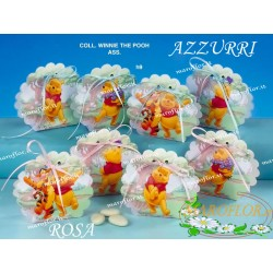 Bomboniere Winnie The Pooh scatolina portaconfetti Rosa astucci 4 assortiti
