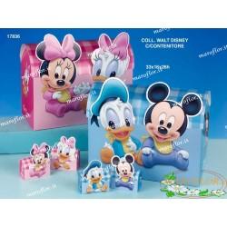TORTA Bomboniere 32 Astucci Scatoline Topolino Paperino Mickey Donald portaconfetti Azzurri Celeste 2 assortiti