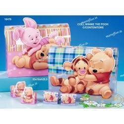 Torta 32 Bomboniere Astucci Scatoline Winnie the Pooh e Tigro portaconfetti Azzurri 2 assortiti Walt Disney