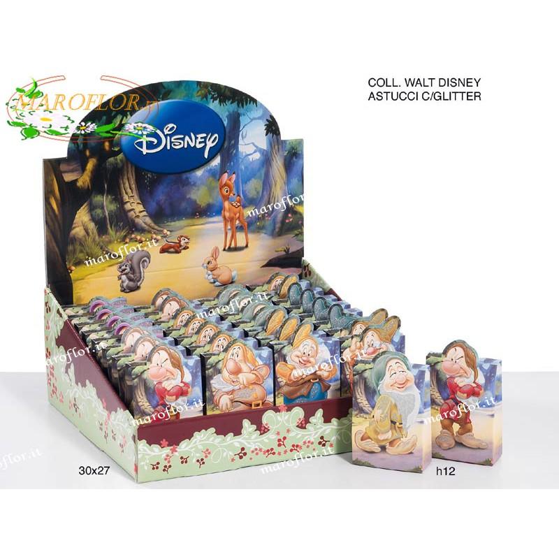 Bomboniere Matrimonio Walt Disney.Bomboniere Astucci 7 Nani Con Glitter Walt Disney H12cm L101600 Wal