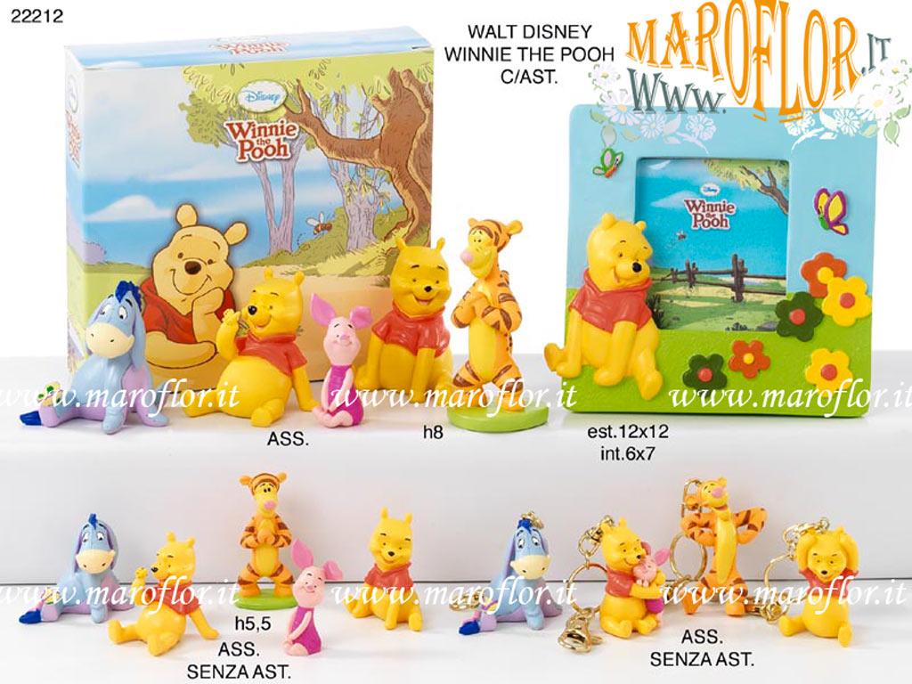Bomboniere Portafoto Cornice Winnie The Pooh Walt Disney H12 5cm X