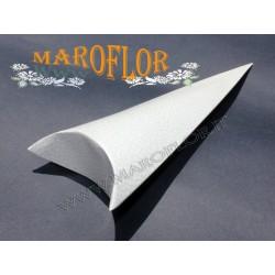 Astuccio Cono 19cm Bianco per Confetti Riso Petali in cartoncino
