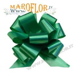 50 Coccarde h3cm Nastri Fiocchi Verde per Sposi, Auto, Addobbi
