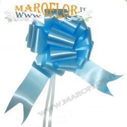 50 Coccarde h5cm Nastri Fiocchi Azzurro per Sposi, Auto, Addobbi