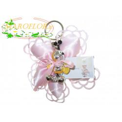 Bomboniere Portachiavi apine rosa 2 assortite cm 5 confezionate