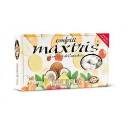 Confetti Maxtris Frutta con Mandorle ricoperta di cioccolato ai vari gusti della Frutta 1Kg