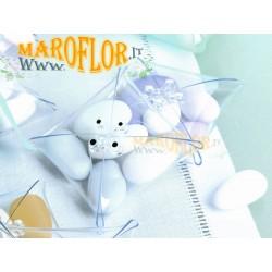 Bomboniere Claraluna 9992 confezione 24 Portaconfetti linea Flex 7cm trasparente