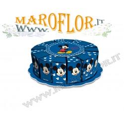 Torta Bomboniere Walt Disney Topolino Mickey 16 Fette Blu